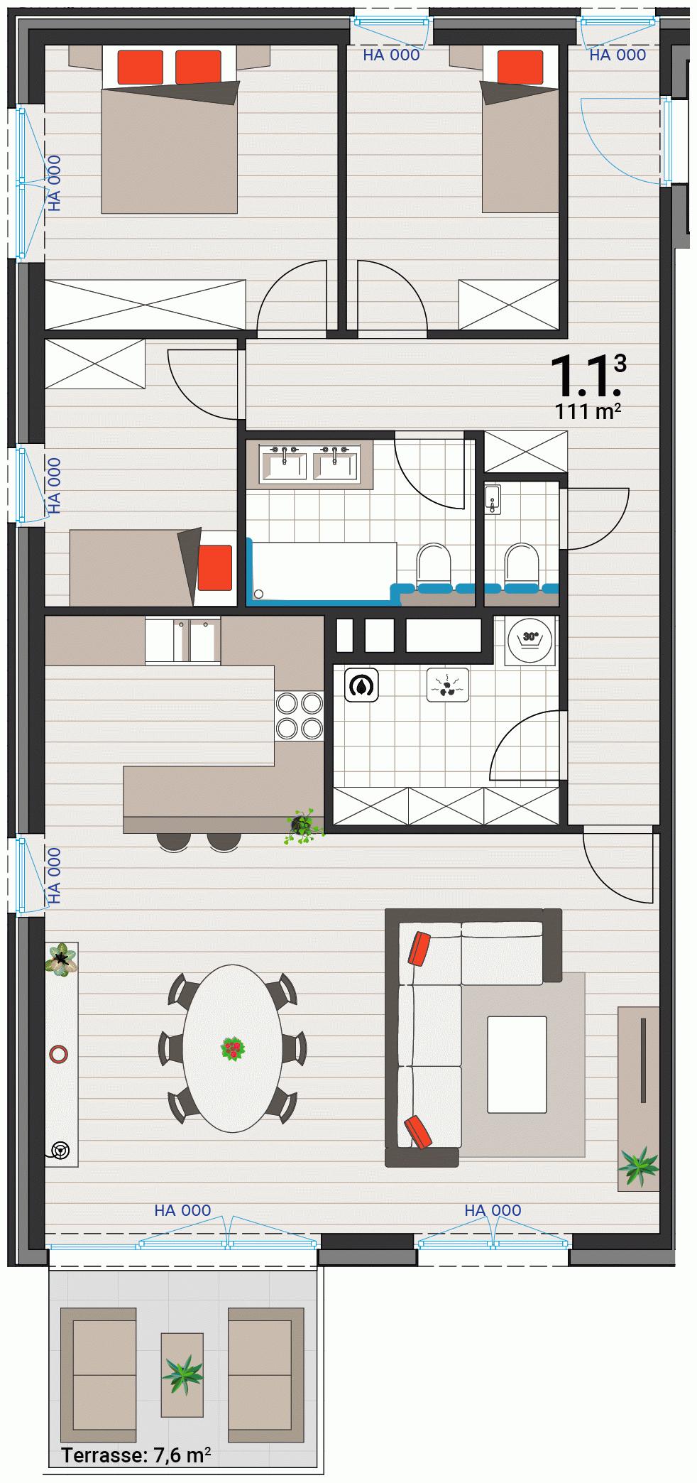 Appartement 1.1.