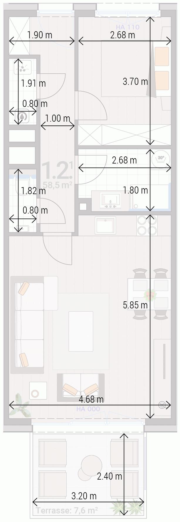 Appartement 1.2.