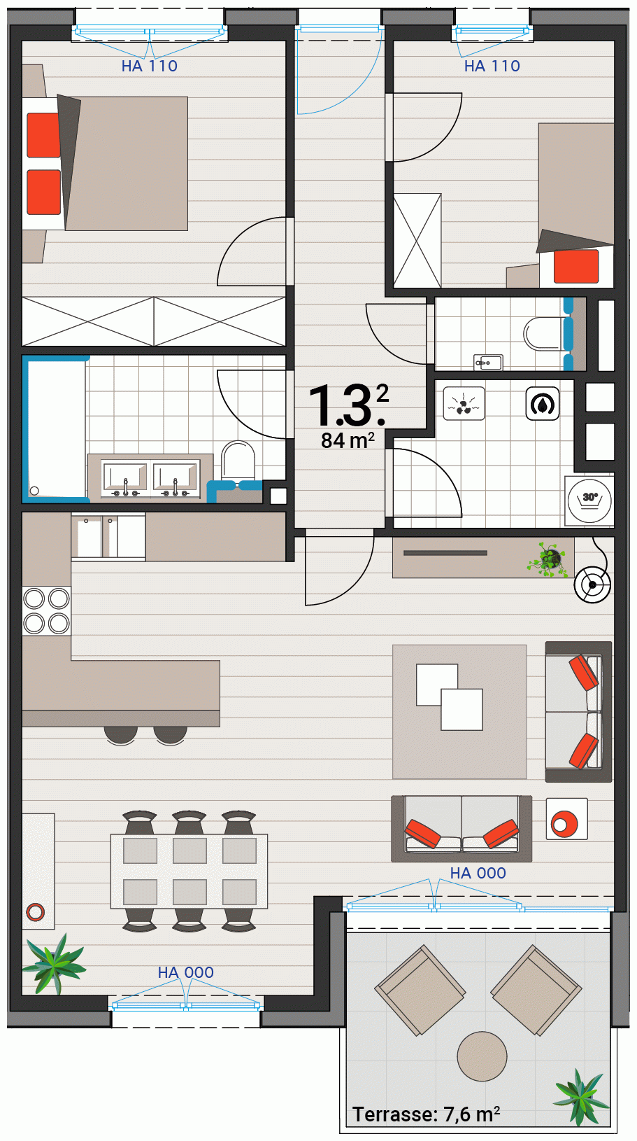 Appartement 1.3.