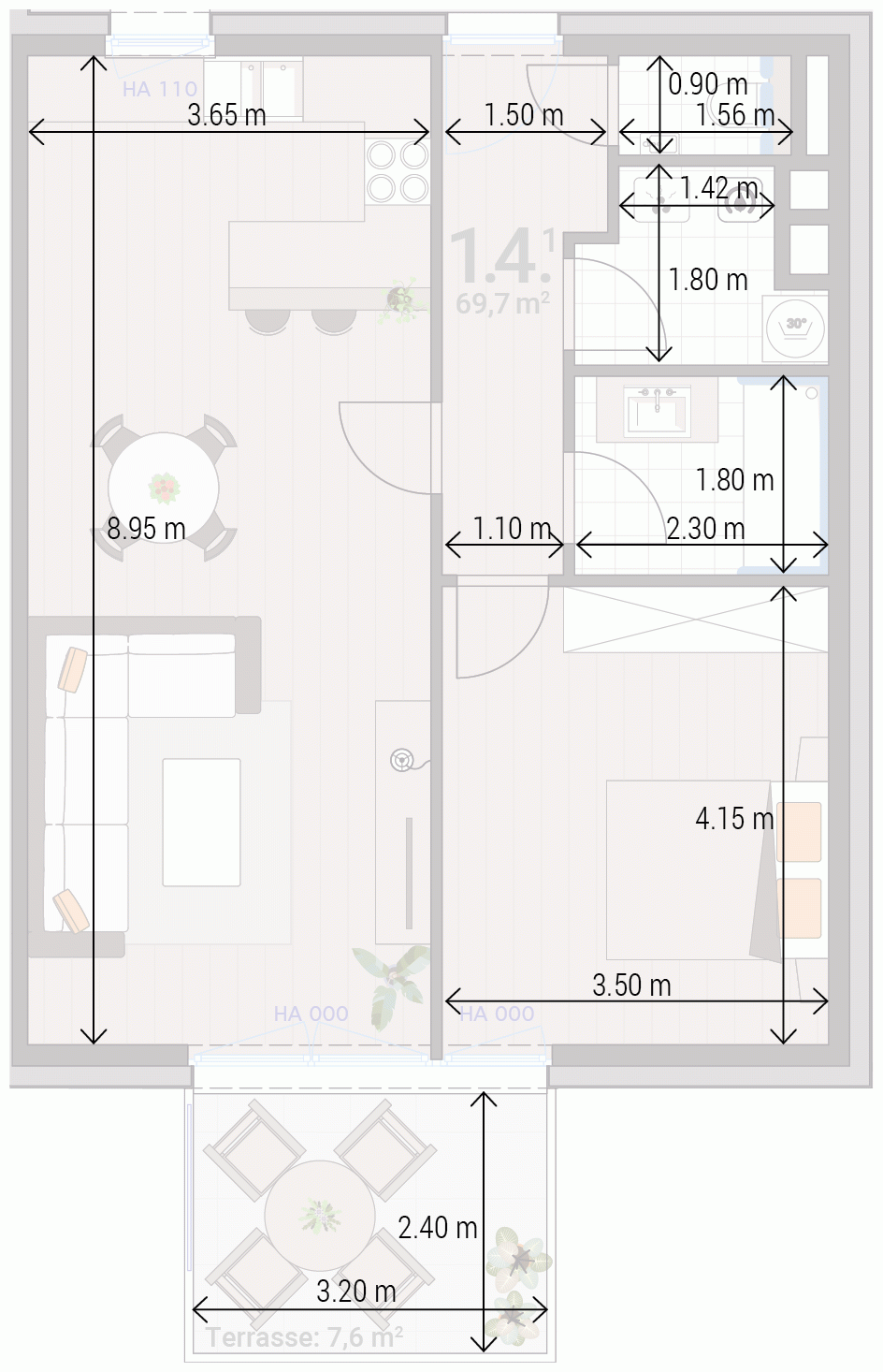 Appartement 1.4.