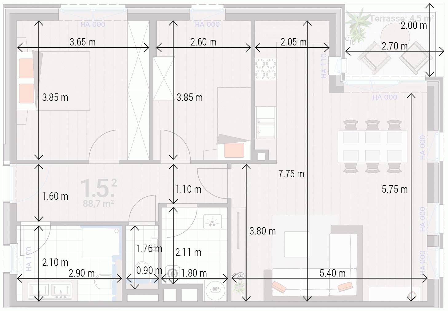 Appartement 1.5.