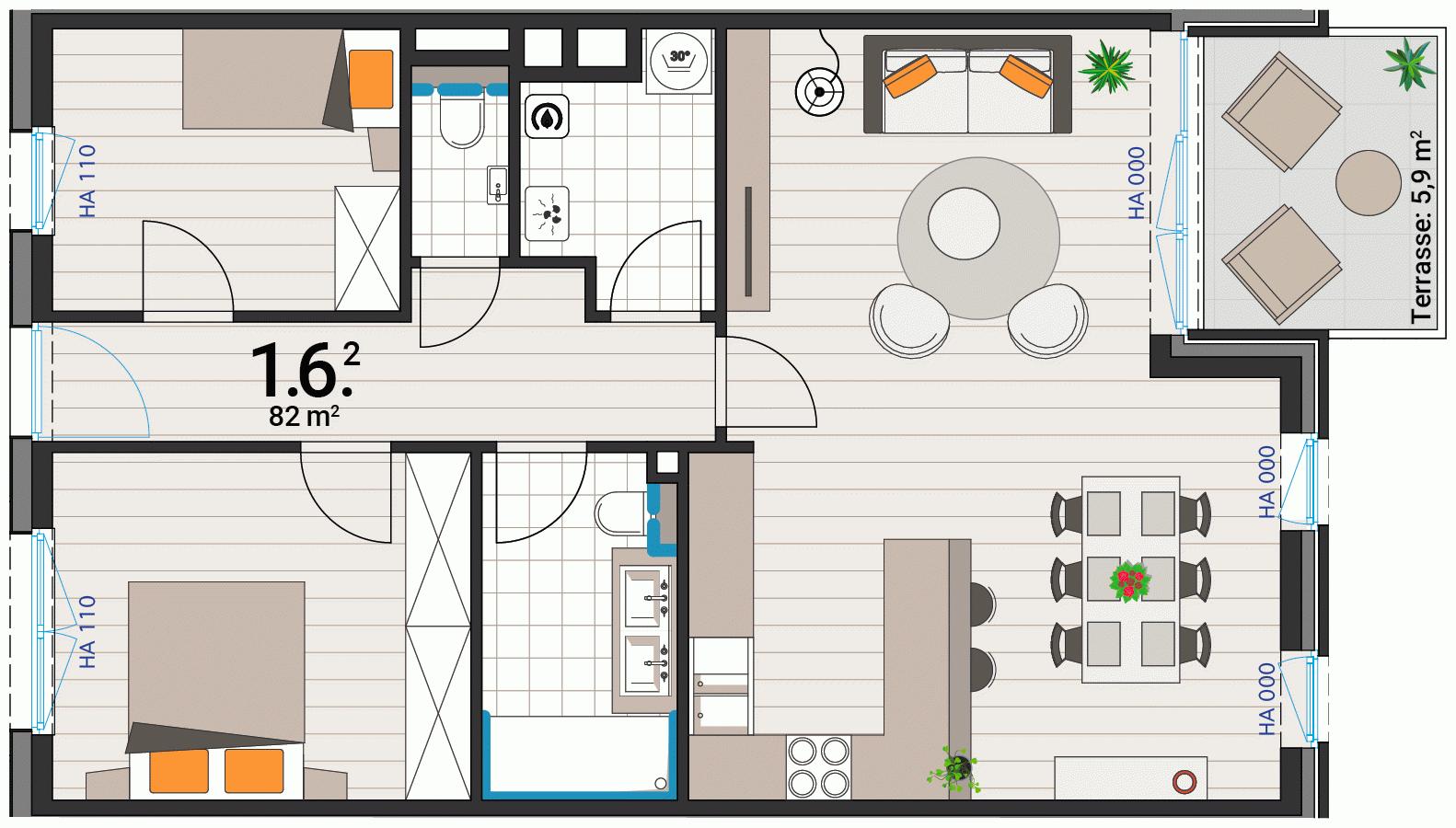 Appartement 1.6.