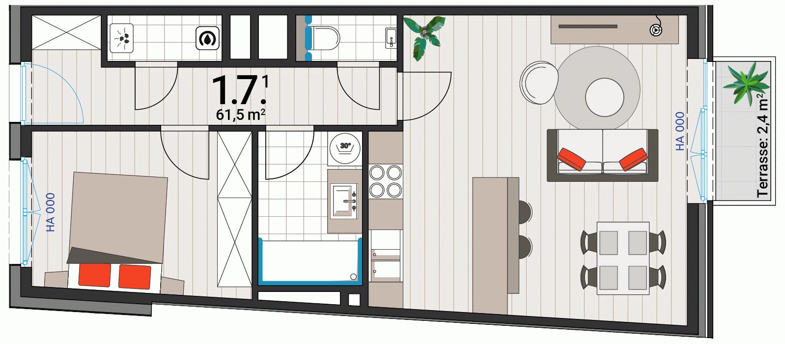 Appartement 1.7.