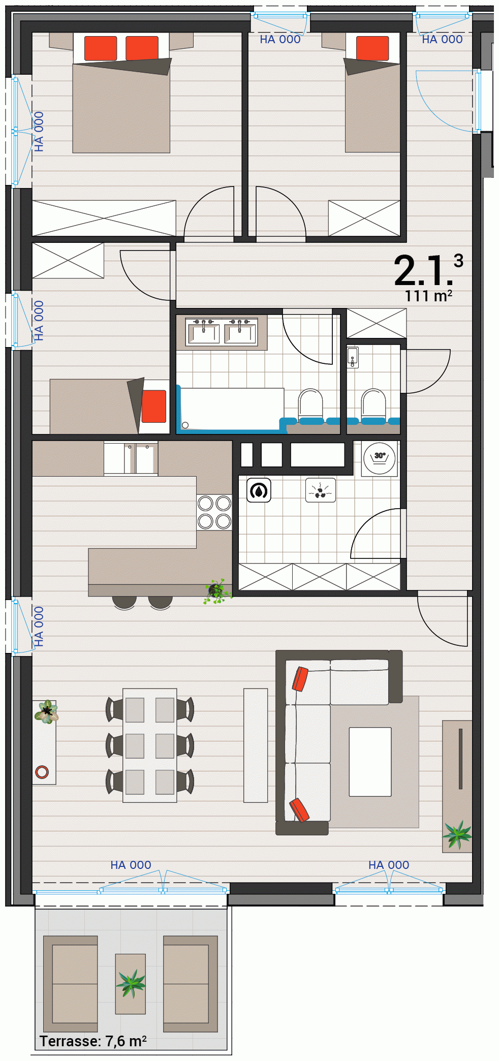 Appartement 2.1.