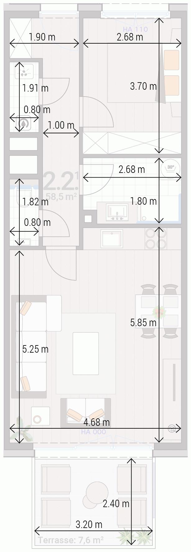 Appartement 2.2.