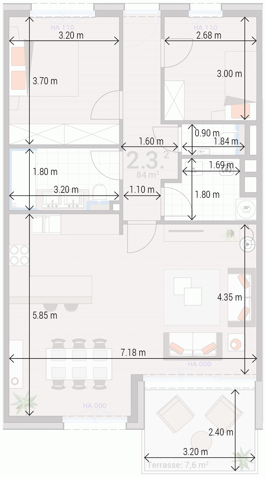 Appartement 2.3.