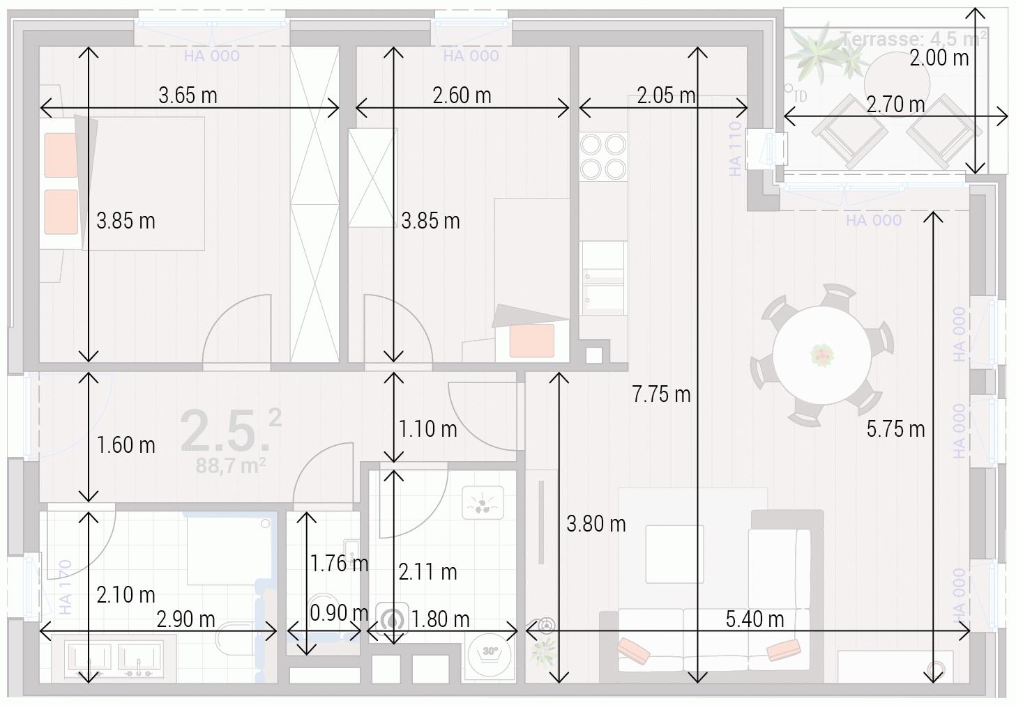 Appartement 2.5.
