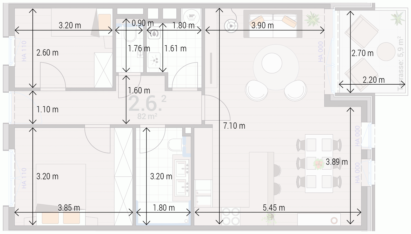 Appartement 2.6.