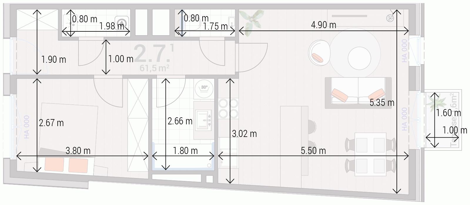Appartement 2.7.