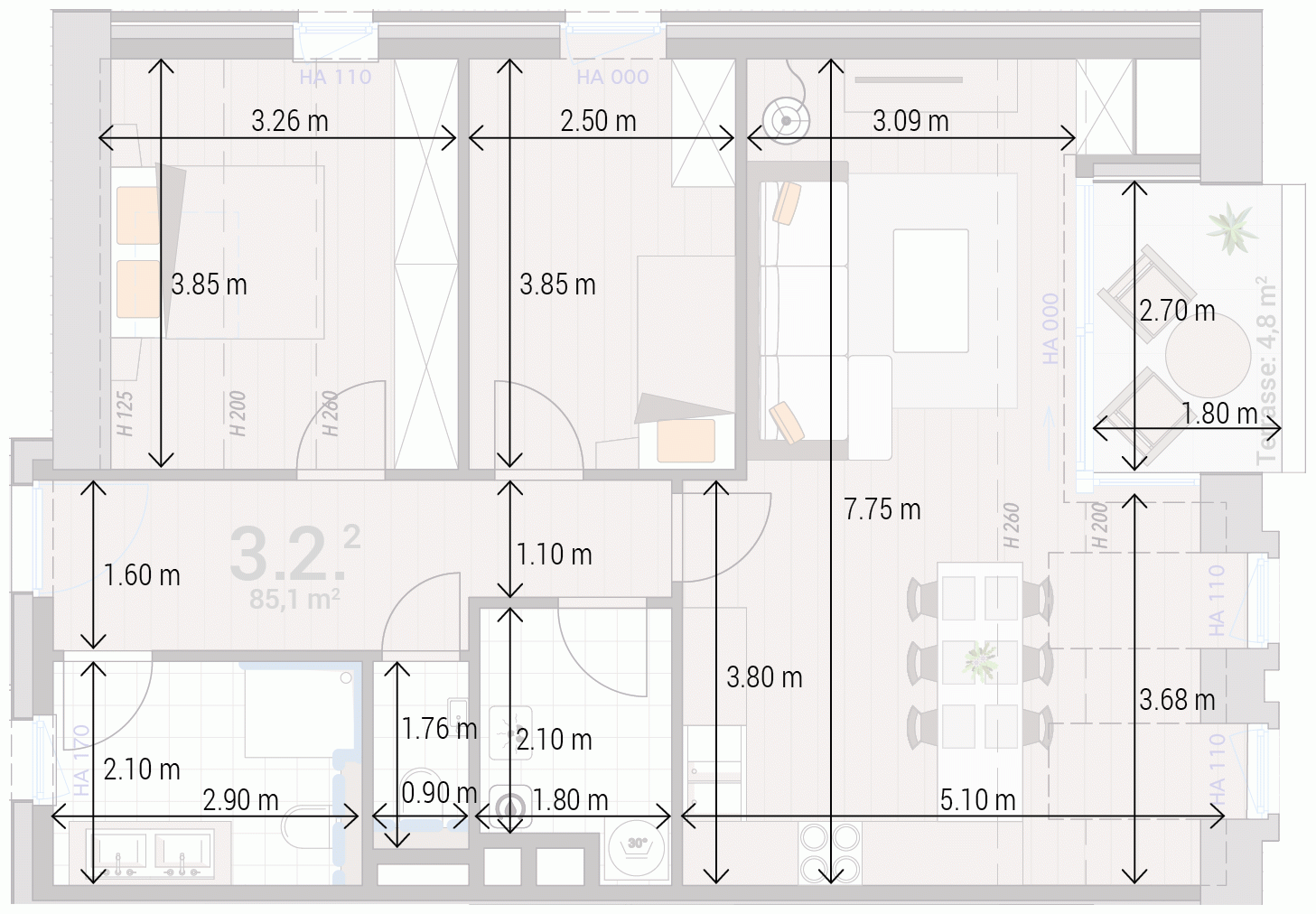 Appartement 3.2.
