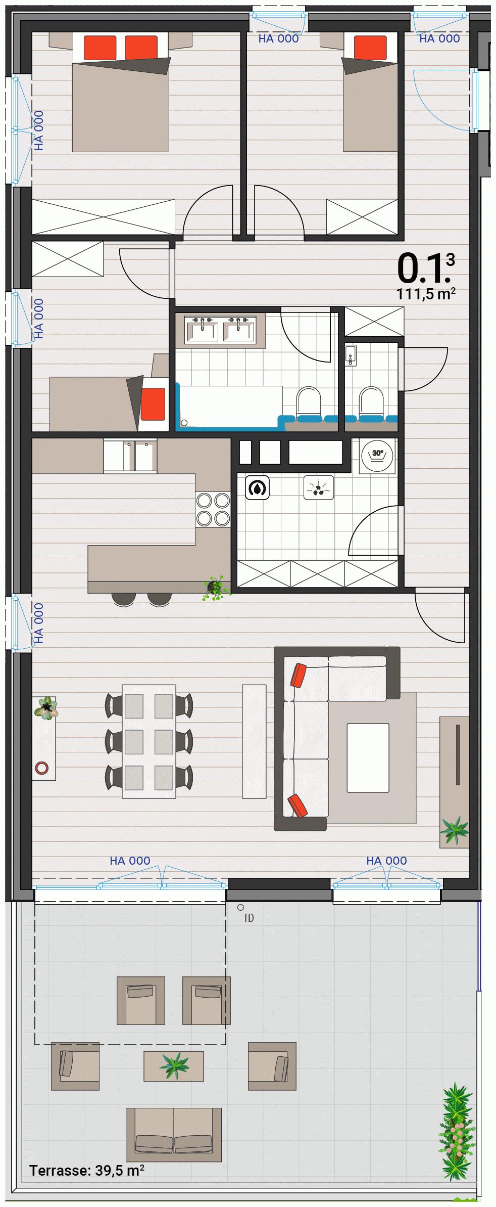 Appartement 0.1.