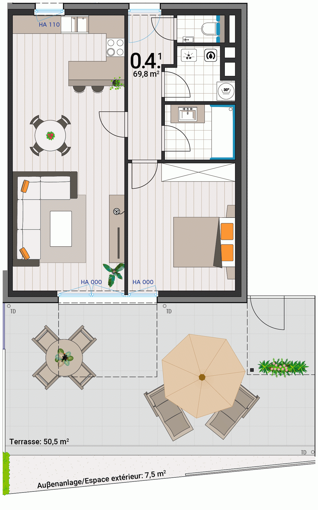 Appartement 0.4.